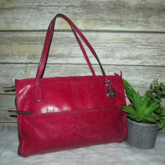 db371c65a954 HOBO Handbags - Hobo The Original Pink Red Leather Tote Bag Purse